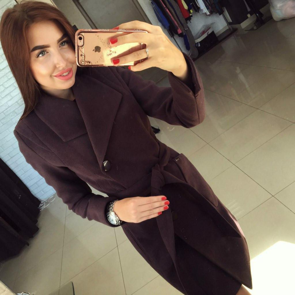 Пальто женское Модлен коричневое , куртки женские  продажа, цена в ... f1fdd2004fb