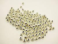 Бусины серебряные с отверстием 3 мм