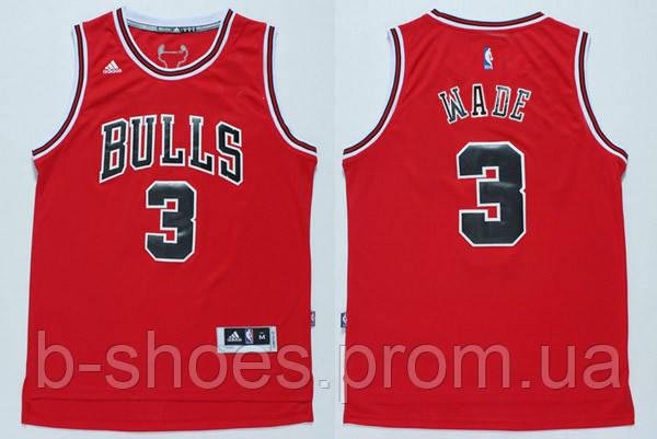 Мужская баскетбольная майка Chicago Bulls (Dwyane Wade) Red