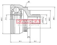 Шрус ford galaxy 95'-;seat alhambra 96'-;vw sharan 95'- наружн. 38/27/60мм /48 abs (производство KAMOKA ), код запчасти: 7050