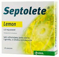 Септолете со вкусом Лимона - Антисептик - паст. 1,2 мг № 18
