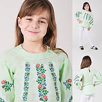 "Блуза-туника для девочки ""Цветочная паутинка-2"", фото 1"