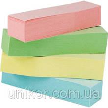 Закладки паперові 12х51 мм, 4 кольори пастель по 100 аркушів. BuroMax