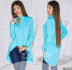 Блуза асимметричной длины