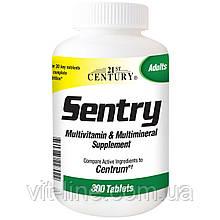 21st Century, Sentry, мультивитаминная и мультиминеральная добавка, 300 таблеток