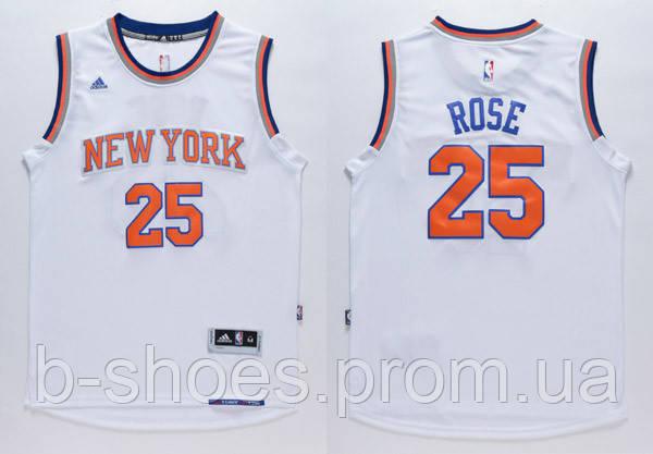 Мужская баскетбольная майка New York Knicks (Derrick Rose) White