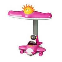 Настольная лампа детская Самолет розовый HL 044