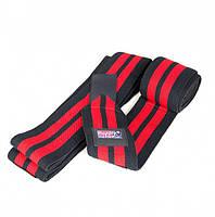 Колінні бинти Gorilla wear Knee Wraps 79 Inch (Black/Red)