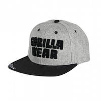 Бейсболка Gorilla wear Soft Text Flat Brim (Gray/Black)
