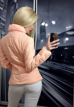 Куртка женская короткая ft-239 персиковая, фото 2