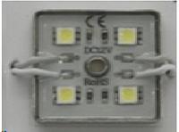 Св/д модуль Lemanso 5050 4LED IP65 7000K / LR353 квадратный метал.