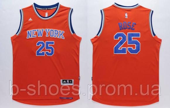 Мужская баскетбольная майка New York Knicks (Derrick Rose) Orange