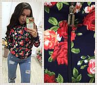 Кофта женская на молнии, ткань двухнитка, 2 расцветки ,фото реал хорошее качество мпас № 2233