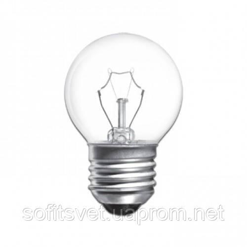 Лампа накаливания Шар 60Вт E27 прозрачная Philips (16007029)
