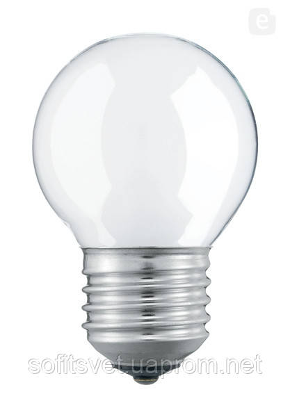 Лампа накаливания Шар 60Вт E27 матовая Philips (16003215)
