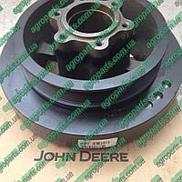 Демпфер RE500934 коленвала John Deere з/ч DAMPER TORSIONAL re500934 торсион