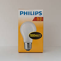 Лампа накаливания А55 100Вт E27 матовая Philips (16001527)