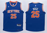 Мужская баскетбольная майка New York Knicks (Derrick Rose) Blue