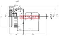 Шрус ford mondeo i/ii 93'-00' наружн. 27/30/57мм /44 abs (производство KAMOKA ), код запчасти: 6714