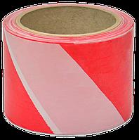 Лента сигнальная 80мм/50м красно-белая FAVORIT