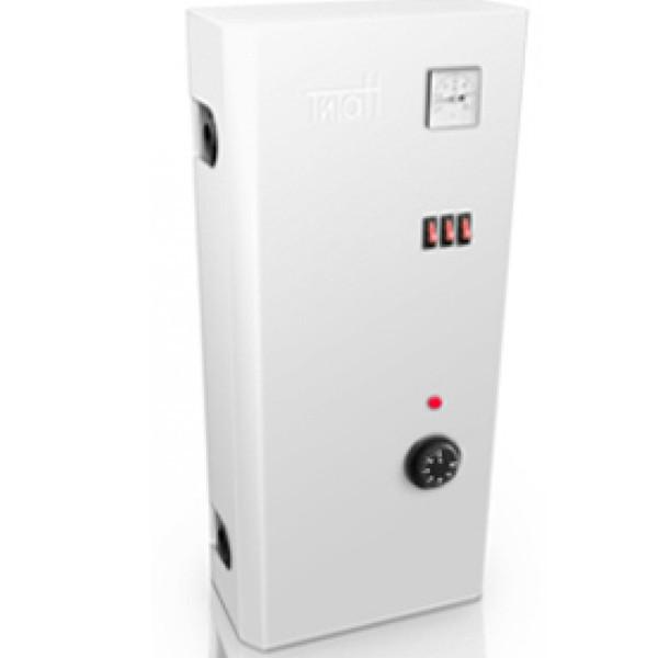 Электро котел ТИТАН 4,5 кВт 220 В  (1,5+3) Мини-люкс ( настенный ) Трехступенчатые, регулятор и индикатор темп