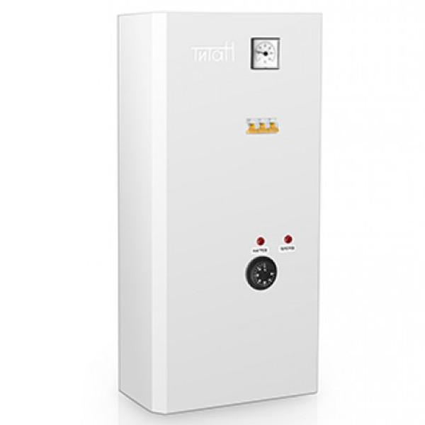 Электро котел ТИТАН 12 кВт 380 В  (4+8) Мини-навесной  Трехступенчатые,кран маевского,насос Grundfos