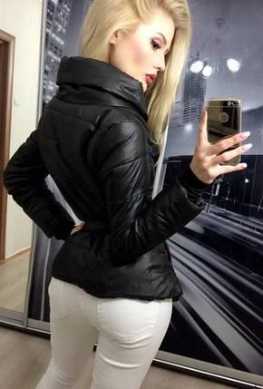 Куртка женская на синтепоне, черная, фото 2