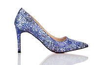 Туфли женские на каблуке Loren Leather Pumps (лорен) синие