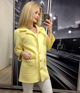 Пиджак женский из неопрена Классик /желтый, 42-44, ft-268/