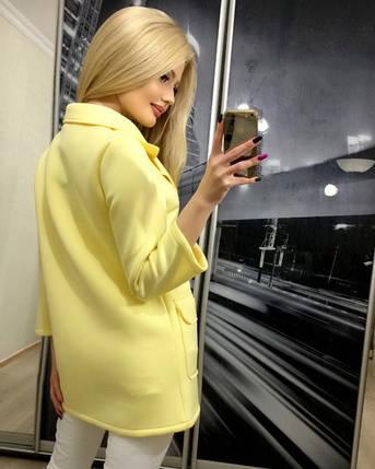 Пиджак женский из неопрена Классик /желтый, 42-46, ft-268/, фото 2