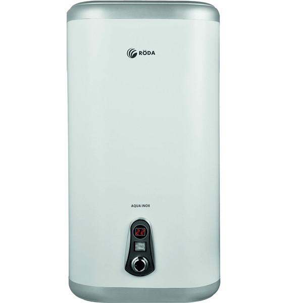 Бойлер настенный RODA Aqua Inox 100 V Нержавейка, плоский, дисплей, 1300/2000 w, вертикальный