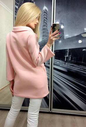 Пиджак женский из неопрена Классик ft-268 персик, фото 2