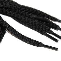 Шнурок 5 мм круглый черный 70 см
