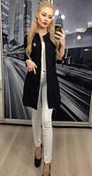Пиджак женский длинный, черный