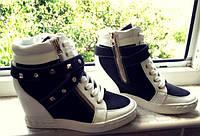 Стильные сникерсы польского бренда Vices цвет черно-белый 40 размер