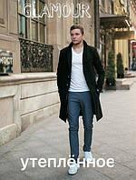 Пальто мужское утепленное, ткань Кашемир + подкладка синтепон 100 , супер качество 2 цвета естил №490