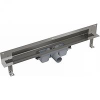 Дренажная система для монтажа в стену (Нержавеющая сталь глянцевая),  750, 850 мм Alcaplast