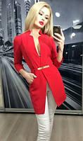 Пиджак женский удлиненный ft-243 красный