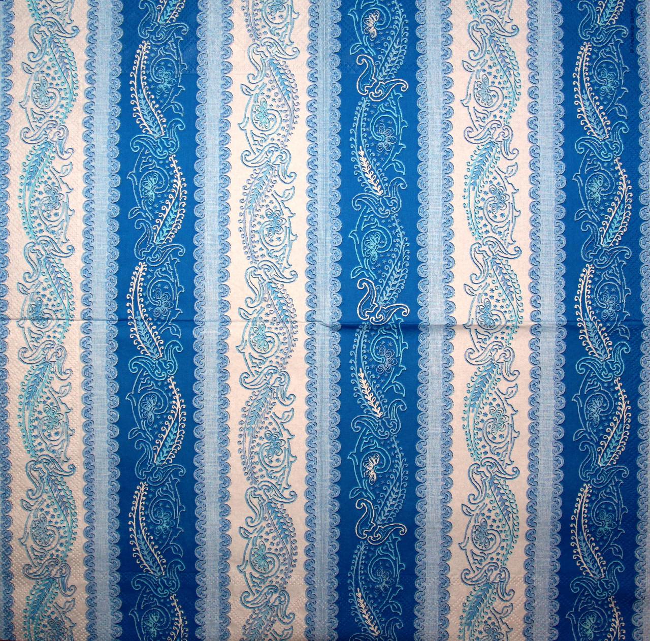 Серветки декупажні Синя смугаста 2251