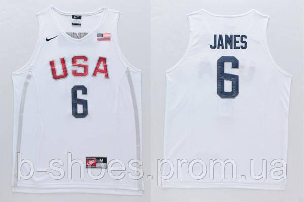 Мужская баскетбольная майка Nike USA 2016 Olympic Dream Team LeBron James