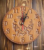 Настенные деревянные часы Якорь 20 см. Ручная работа