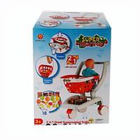 Игрушечная тележка для продуктов 2007: 18 предметов, место для куклы, коробка 44х33х23,5 см, 3+ лет