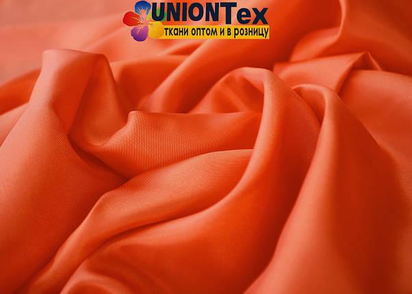 Подкладочная ткань нейлон оранжевая (Италия), фото 2