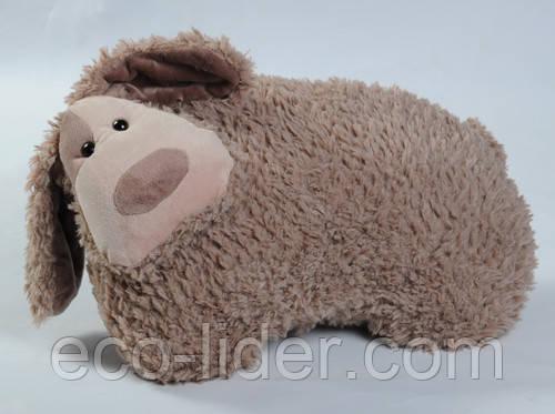 Мягкая игрушка - СОБАКА БОНЯ (коричневая, 40 см)
