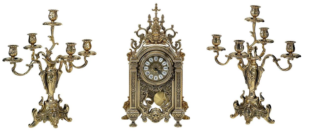 Stilars 1383 Набор часы + подсвечники