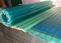 Шифер Volnoplast прозрачный зеленый армированный стекловолокном в рулоне.