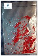 Алмазная крошка, пиксели для дизайна ногтей, кристалы 1440шт., красный