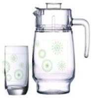 Luminarc Green Flakes Набор/вода (кувшин 1,6л, стаканы 310мл-6шт)-7предметов, 169781, /П1