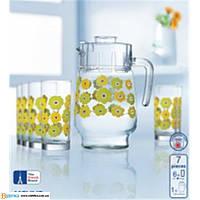 Lum Meline Набор/вода(кувшин 1,6л,стаканы 270мл-6шт)-7предметов, 169904, /П1