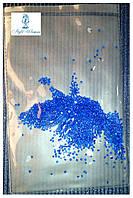 Алмазная крошка, пиксели для дизайна ногтей, кристалы 1440шт., синий
